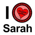 I Love Sarah Brothers & Sisters White T-Shirt
