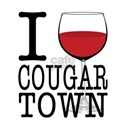 I Wine (Heart) Cougar Town White T-Shirt
