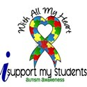 With All My Heart Autism White T-Shirt