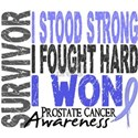 Survivor 4 Prostate Cancer Shirts and Gifts White