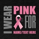 Pink Awareness Ribbon Customized T-Shirt