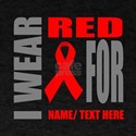 Red Awareness Ribbon Customized T-Shirt