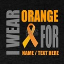Orange Awareness Ribbon Customized T-Shirt