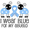 Abuelo Light Blue Ribbon White T-Shirt