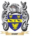 Harp Coat of Arms - Family Crest T-Shirt
