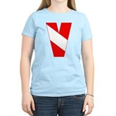 Scuba Flag Letter V Women's Light T-Shirt