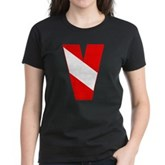 Scuba Flag Letter V Women's Dark T-Shirt