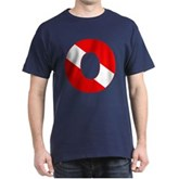 Scuba Flag Letter O Dark T-Shirt