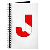 Scuba Flag Letter J Journal