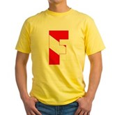Scuba Flag Letter F Yellow T-Shirt