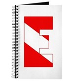 Scuba Flag Letter E Journal