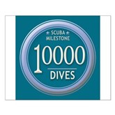 10000 Dives Milestone Small Poster