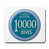 10000 Dives Milestone Mousepad
