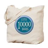 10000 Dives Milestone Tote Bag