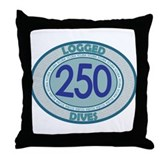 250 Logged Dives Throw Pillow
