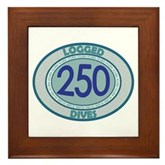 250 Logged Dives Framed Tile