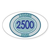 2500 Logged Dives Oval Sticker