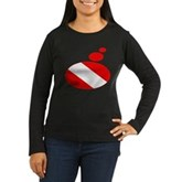 Thought Bubble Dive Flag Women's Long Sleeve Dark