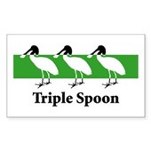 Triple Spoon Rectangle Sticker