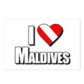 Scuba: I Love Maldives Postcards (Package of 8)