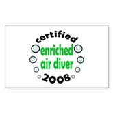 Enriched Air Diver 2008 Rectangle Sticker