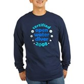 Open Water Diver 2008 Long Sleeve Dark T-Shirt