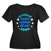 Open Water Diver 2008 Women's Plus Size Scoop Neck