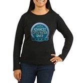 Certified AOWD 2008 Women's Long Sleeve Dark T-Shi