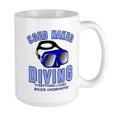 Coed Naked Diving Large Mug