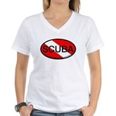 Scuba Oval Dive Flag Women's V-Neck T-Shirt