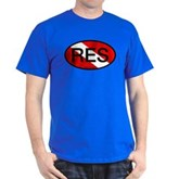 RES Oval Scuba Flag Dark T-Shirt