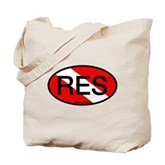 RES Oval Scuba Flag Tote Bag