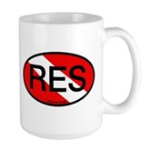 RES Oval Scuba Flag Large Mug