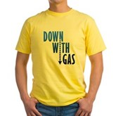 Down With Gas Yellow T-Shirt