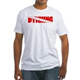 Dykning Danish Dive Flag Fitted T-Shirt