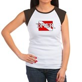 Pirate-style Diver Flag Women's Cap Sleeve T-Shirt
