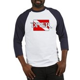 Pirate-style Diver Flag Baseball Jersey
