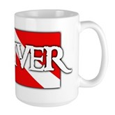 Pirate-style Diver Flag Large Mug