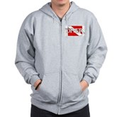 Pirate-style Diver Flag Zip Hoodie