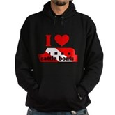 I Love Cattle Boats Hoodie (dark)