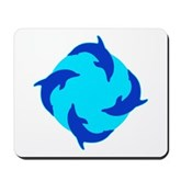 Dolphin Ring Mousepad