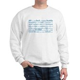 SCUBA Tag Cloud Sweatshirt