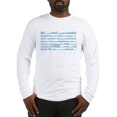 SCUBA Tag Cloud Long Sleeve T-Shirt