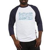 SCUBA Tag Cloud Baseball Jersey