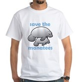 Save the Manatees White T-Shirt